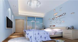 Light Blue Bedroom by Light Blue Bedroom With Tv On Wall Interior Design