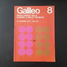 galileo design vignelli center on italian science magazine galileo
