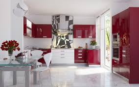 Red Kitchens With White Cabinets Red Kitchen Cabinets Red And White Kitchen Cabinets Nice On