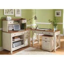 White Desk With Hutch And Drawers White Desks Computer Tables For Less Overstock