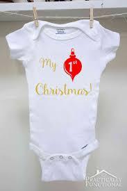 diy my 1st christmas onesie