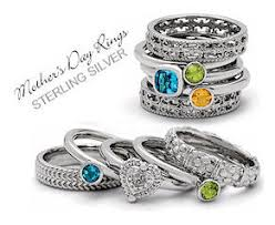 stackable birthstone rings for mothers stackable mothers rings that each ring can be different