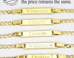 baby gold bracelet with name gold baby bracelet etsy