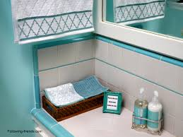 Aqua Towels Bathroom Bathroom Reveal Following Friends