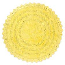 Round Bathroom Rugs Yellow Round Bath Mats Ebay
