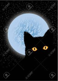 cat and moon royalty free cliparts vectors and stock illustration