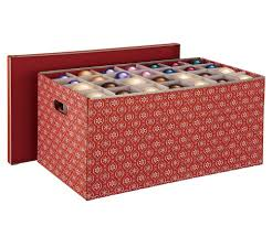 plastic ornament storage box with dividers