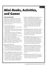 esl activities and mini books