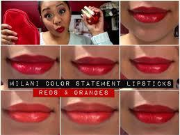 new milani color statement lipsticks oranges u0026 reds youtube