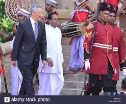 sri lankan l colombo sri lanka 23rd jan 2018 singapore prime minister