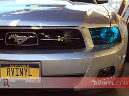 Blacked Out 2014 Mustang Rtint Ford Mustang 2010 2014 Headlight Tint Film