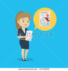 Seeking On Looking Photo House On Tablet Stock Vector 547790368
