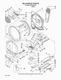 whirlpool wed7300xw0 parts list and diagram ereplacementparts com
