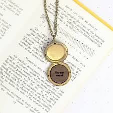 personalised wooden sound wave locket by newton and the apple