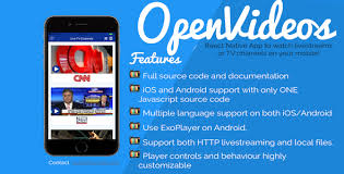 ios for android openvideos react app android ios for tv channels and