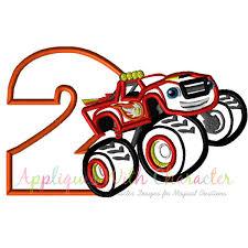 monster trucks for kids blaze blaze two applique design blaze truck embroidery design blaze