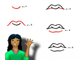 how to draw cartoon lips how to draw mouths stepstep tutorial