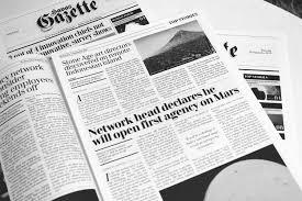 news paper writing havas gazette humorous satirical advertising newspaper havas gazette humorous satirical advertising newspaper copywriting award winning writing for printed materials