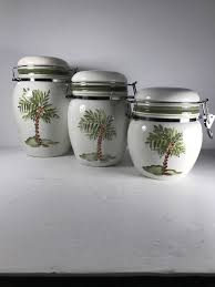 ceramic gibson elite food storage containers palm trees court set