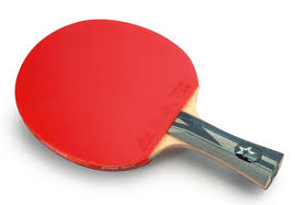 Dhs Table Tennis by Dhs Ready Made Bat A5002 Flared Handle Pro Series
