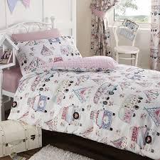 Childrens Duvet Covers Double Bed Children U0027s 100 Cotton Cute Festival Camping Duvet Cover