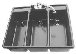 Three Compartment DropIn SANITIZING SINK Moli International - Three compartment kitchen sink