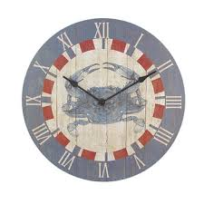 Crab Decorations For Home 12 Inch Diameter Blue Crab Kitchen Wall Clock Nautical 24 99