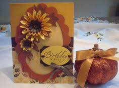 fall birthday card for julie cards crafts i made