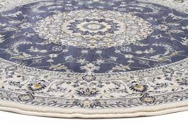 White Round Rug by Palace 22 Blue White Round Rug Catwalk Rugs