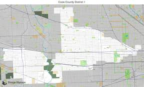 Cook County Il Map Map Of Building Projects Properties And Businesses In District 1