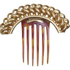 antique hair combs antique hair comb hinged gilt metal hair accessory from