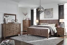 White Ash Bedroom Furniture Tamilo Vintage Casual Gray Brown 2pc Bedroom Set W Queen Panel Bed