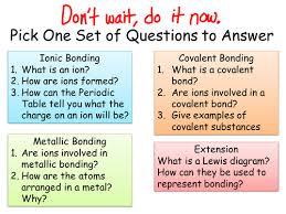 Atoms Bonding And The Periodic Table Ionic And Covalent Bonding By Jechr Teaching Resources Tes