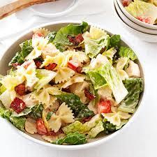 pasta salda blt bow tie pasta salad recipe taste of home