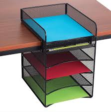 Neat Desk Organizer Reviews by Amazon Com Safco Products 3256bl Onyx Mesh Desktop Organizer