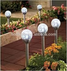 solar led stake lights color changing solar crackle glass ball led light wholesale led