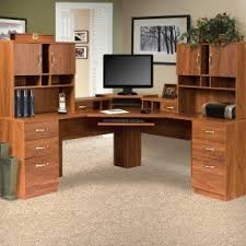 Office Desk With Hutch L Shaped Corner Computer Desk With Hutch For Home Foter