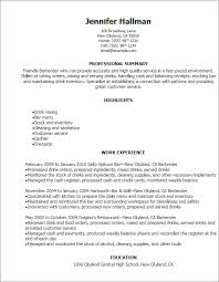 Resume Order Of Work Experience Professional Bartender Resume Templates To Showcase Your Talent