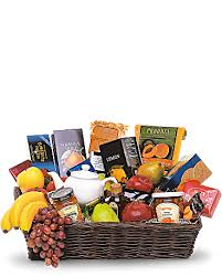 fruit basket grande gourmet fruit basket teleflora