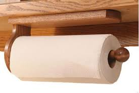 wooden paper towel holder under cabinet four seasons furnishings amish made furniture solid oak paper towel