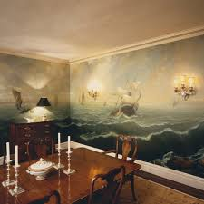 Murals Traditional Dining Room New York By Anne Harris Studio - Dining room mural