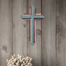 wooden wall crosses stonebriar collection 8 5 in x 14 in multicolor 3d wooden wall