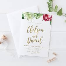 tropical wedding invitations tropical wedding invitation suite tropical flower invites printed