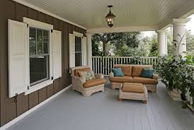 Outdoor Beadboard Ceiling Panels - traditional porch with painted floors u0026 white exterior columns