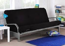 full sofa bed mattress brand new metal futon sofa bed couch with black full size mattress