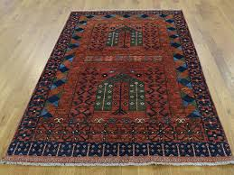 4 u0027x6 u0027 hand knotted afghan ersari prayer design pure wool oriental