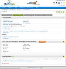 staff leave planner template take a tour employee record view leave settings