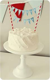 Cake Decorations For 1st Birthday Best 25 Bunting Cake Toppers Ideas On Pinterest Diy Bunting