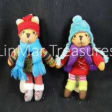reindeer ornament set of 2 midwest cbk knit wits like heartfelts