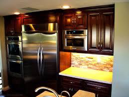 beige walnut l shape cabinet design dark kitchen cabinets wall